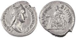 Ancient Coins - Sabina AR Denarius, Choice VF, Rare Variety, 128 - 137 C.E.