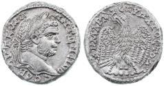Ancient Coins - Akko Ptolemais, Caracalla AR Tetradrachm, Extremely Fine, 218 - 217 C.E.