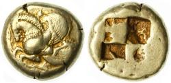 Ancient Coins - Lampsakos, Mysia EL Stater, RARE, VF, 500 - 450 B.C.E.
