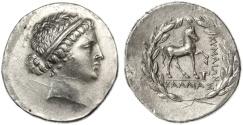 Ancient Coins - Aeolis, Kyme AR Tetradrachm, Extremely Fine, 165 - 140 B.C.E.