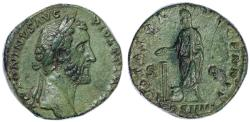 Ancient Coins - Antoninus Pius AE Sestertius, Very SCARCE, AEF to EF, lovely patina, 158/159 C.E.
