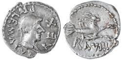 Ancient Coins - Ptolemy, Kings of Mauretania AR Denarius, VERY RARE, Grandson of Antony and Cleopatra, 21 - 40 C.E.