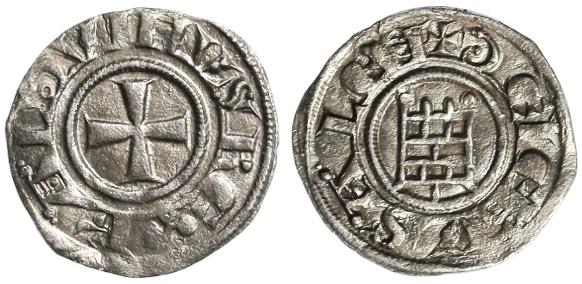 Ancient Coins - Crusaders, Latin Kingdom of Jerusalem, Baldwin III AR OBOL, Choice EF, RARE, 1143 - 1163 C.E.