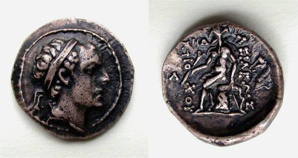 Ancient Coins - Antiochus IV Epiphanes AR drachm, Good VF, Horse mintmark