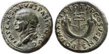 Ancient Coins - Vespasian AE Dupondius, Very Fine, Old Pedigree!, 74 C.E.