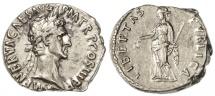 Ancient Coins - Nerva AR Denarius, Very Fine+,  97 C.E.