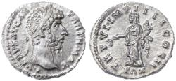 Ancient Coins - Lucius Verus AR Denarius, Lustrous Near MINT State, 166 C.E.