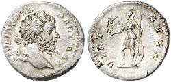 Ancient Coins - Septimius Severus AR Denarius, Extremely Fine, 200/201 C.E.