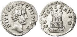 "Ancient Coins - Antoninus Pius AR Denarius, Bold Choice EF, ""Consecratio"", after 161 C.E."