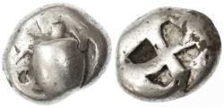 Ancient Coins - Aegina, Islands off Attica AR Stater, Fine, late 6th - mid 5th Century B.C.E.