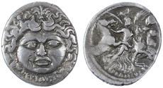 Ancient Coins - L. Plautius Plancus AR Denarius, VF, 47 B.C.E.