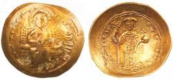 Constantine X Ducas AV Gold Histamenon Nomisma, About Extremely Fine, 1059-1067 C.E.