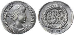 Ancient Coins - Constantius II AR Siliqua, VF/AVF, Harptree Hoard pedigree, 351 - 354 C.E.