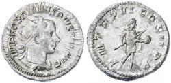 Ancient Coins - Gordian III AR Antoninianus, Lustrous VF+, 241 - 243 C.E.