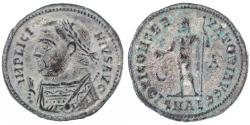 Ancient Coins - Licinius I Silvered Follis, Near MINT State, Alexandria Mint, 317 - 320 C.E.