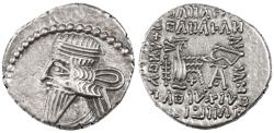 Ancient Coins - Pacorus AR Drachm, Parthia, Extremely Fine, 78 - 120 C.E.