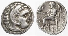 Ancient Coins - Alexander the Great AR Drachm, VF+, Kolophon, 310 - 301 B.C.E.