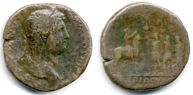 "Ancient Coins - Hadrian RARE ""Exercitvs Syriacvs"" Sestertius, AF"