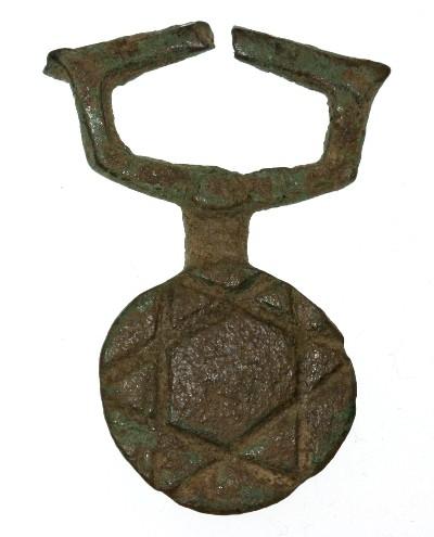 Ancient Star of David / Seal of Solomon Bronze Pendant, 4th - 7th Century  C E
