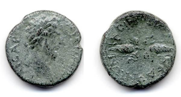 """Ancient Coins - Marcus Aurelius, Macedonia """"Thunderbolt"""""""