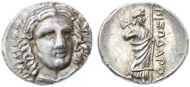 Ancient Coins - Satraps of Caria, Pixodaros AR Didrachm, Choice Extremely Fine, 340 - 334 B.C.E.