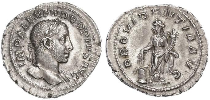 Ancient Coins - Severus Alexander AR Denarius, SUPERB Extremely Fine, 231 - 235 C.E.