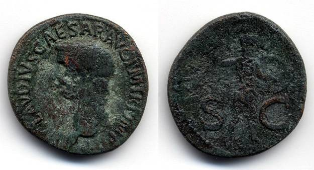 Ancient Coins - Claudius AE AS, F