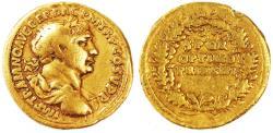 Trajan AV Gold Aureus, Nice Fine, 107 C.E.