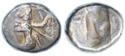 Ancient Coins - Achaemenid Kings of Persia, Lydia AR Siglos, AVF, Nicely toned fouree,  485 - 420 B.C.E.