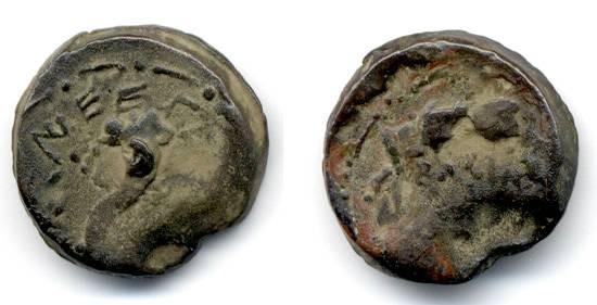 Ancient Coins - Mattathias Antigonus medium denomination, Scarce nice coin of last Maccabean King
