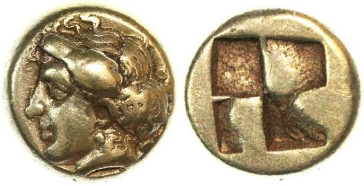 Ancient Coins - Ionia, Phokaia EL Hekte, BOLD GVF, 478 - 387 B.C.E.