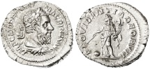 Ancient Coins - Macrinus AR Denarius , Near MINT State, Fine style portrait, 218 C.E.
