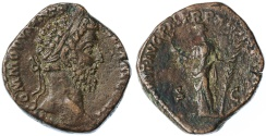 Ancient Coins - Commodus AE Sestertius, GVF, Scarce, 186/187 C.E.