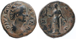 Ancient Coins - Faustina Sr. AE Dupondius, Centered AVF, after 141 C.E.