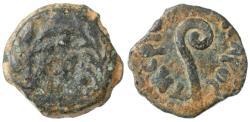 Ancient Coins - Pontius Pilate prefect under Tiberius AE Prutah, BOLD Littus, 30/31 C.E.