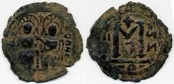 Ancient Coins - Beisan (Baysan) Arab Byzantine AE Fals, UNPUBLISHED - Extremely Rare!, city also known as Nysa-Scythopolis and Bet Shean, Umayyads late 600's C.E.
