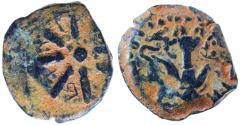 Ancient Coins - Alexander Jannaeus (Yannai) AE Prutah / Widow's Mite, VF+, 103 - 76 B.C.E.