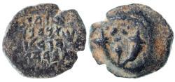 Ancient Coins - Alexander Jannaeus (Yannai) AE Prutah / Widow's Mite, VF+/VF, 103 - 76 B.C.E.
