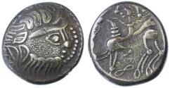 Ancient Coins - Celtic, Eastern Europe BI Tetradrachm, Imitation of Philip II, GVF, Pedigreed,  2nd - 1st Century B.C.E.