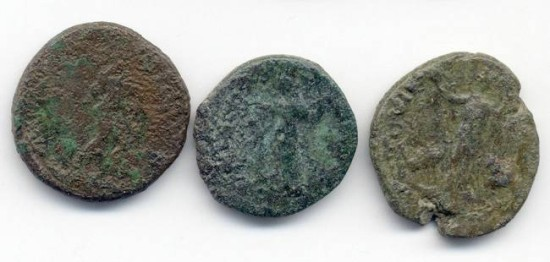 Ancient Coins - Lot of 3 Large Provincial AE, 23mm - 26mm, mixed grades/periods, GREAT Stocking Stuffer