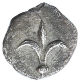 Ancient Coins - Yehud, Lily of Jerusalem AR half Gerah, RARE!, VF+, 5th - 4th Century B.C.E.
