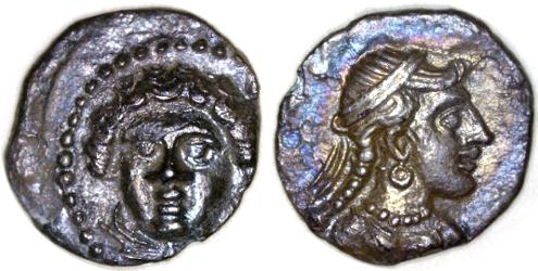 Ancient Coins - Cilicia AR Obol, EF, Time of Pharnabazos / Datames, 380 - 360 B.C.E.