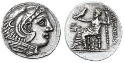 Ancient Coins - Alexander III the Great AR Tetradrachm, Toned Extremely Fine, 325 - 315 B.C.E.