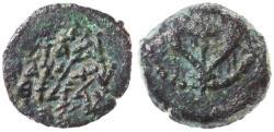 Ancient Coins - Alexander Jannaeus (Yannai) AE Prutah / Widow's Mite, GVF, 103 - 76 B.C.E.
