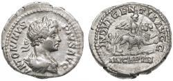 Ancient Coins - Caracalla AR Denarius, VF+, 201 - 203 C.E.