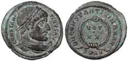 Ancient Coins - Constantine I the Great AE Follis, Near Mint State!, Arles, 322/323 C.E.