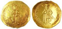 Ancient Coins - Isaac I AV Gold Histamenon Nomisma, SCARCE, Extremely Fine, 1057 - 1059 C.E.
