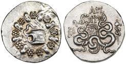 Ancient Coins - Pergamon, Mysia Cistophoric AR Tetradrachm, Lustrous Extremely Fine, 133 - 67 B.C.E.
