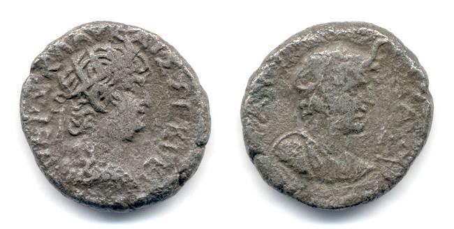 Ancient Coins - Nero Billon Tetradrachm, VF/F, Alexandria Egypt