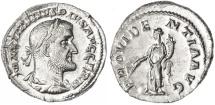 Ancient Coins - Maximinus AR Denarius, Choice MINT STATE, 236 - 238 C.E.